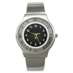 Green Android Honeycomb Gree Stainless Steel Watch