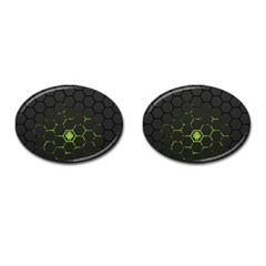 Green Android Honeycomb Gree Cufflinks (oval)