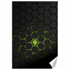 Green Android Honeycomb Gree Canvas 20  X 30