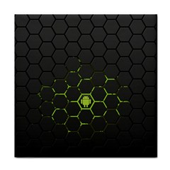 Green Android Honeycomb Gree Face Towel