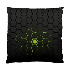 Green Android Honeycomb Gree Standard Cushion Case (two Sides)