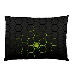 Green Android Honeycomb Gree Pillow Case