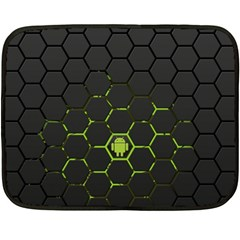 Green Android Honeycomb Gree Double Sided Fleece Blanket (mini)