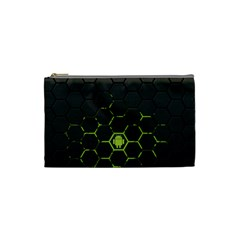 Green Android Honeycomb Gree Cosmetic Bag (small)