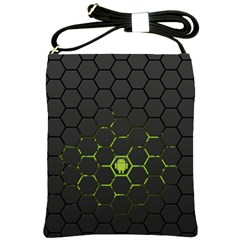 Green Android Honeycomb Gree Shoulder Sling Bags