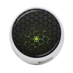 Green Android Honeycomb Gree 4 Port Usb Hub (two Sides)