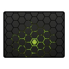 Green Android Honeycomb Gree Fleece Blanket (small)