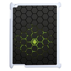 Green Android Honeycomb Gree Apple Ipad 2 Case (white)
