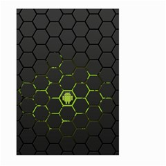 Green Android Honeycomb Gree Large Garden Flag (two Sides)