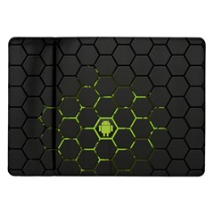 Green Android Honeycomb Gree Samsung Galaxy Tab 10 1  P7500 Flip Case