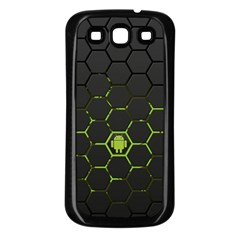 Green Android Honeycomb Gree Samsung Galaxy S3 Back Case (black)