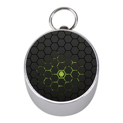 Green Android Honeycomb Gree Mini Silver Compasses