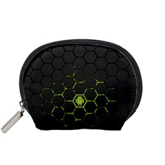 Green Android Honeycomb Gree Accessory Pouches (small)