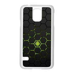 Green Android Honeycomb Gree Samsung Galaxy S5 Case (white)