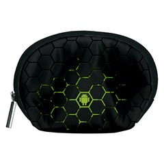 Green Android Honeycomb Gree Accessory Pouches (medium)