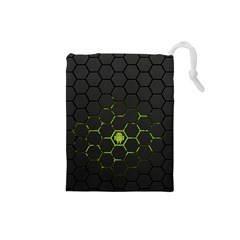 Green Android Honeycomb Gree Drawstring Pouches (small)
