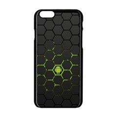 Green Android Honeycomb Gree Apple Iphone 6/6s Black Enamel Case