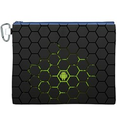 Green Android Honeycomb Gree Canvas Cosmetic Bag (xxxl)