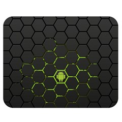 Green Android Honeycomb Gree Double Sided Flano Blanket (medium)