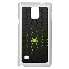 Green Android Honeycomb Gree Samsung Galaxy Note 4 Case (white)