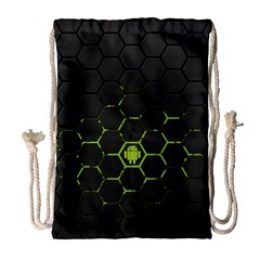 Green Android Honeycomb Gree Drawstring Bag (large)