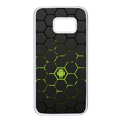 Green Android Honeycomb Gree Samsung Galaxy S7 White Seamless Case