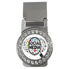 Social Media Computer Internet Typography Text Poster Money Clips (cz)