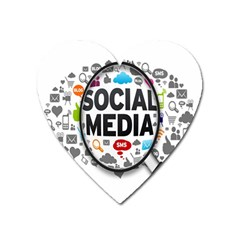 Social Media Computer Internet Typography Text Poster Heart Magnet