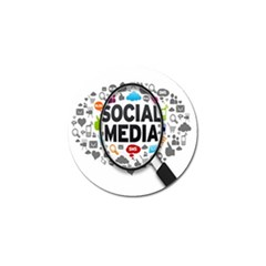 Social Media Computer Internet Typography Text Poster Golf Ball Marker (10 Pack)
