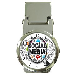 Social Media Computer Internet Typography Text Poster Money Clip Watches