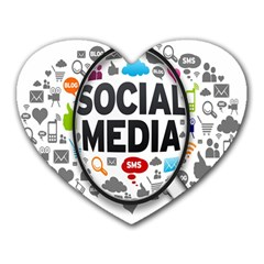 Social Media Computer Internet Typography Text Poster Heart Mousepads