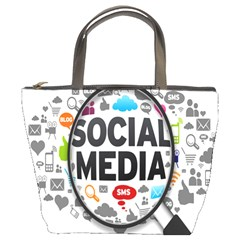 Social Media Computer Internet Typography Text Poster Bucket Bags