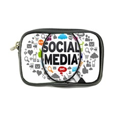 Social Media Computer Internet Typography Text Poster Coin Purse