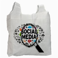 Social Media Computer Internet Typography Text Poster Recycle Bag (one Side)