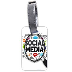 Social Media Computer Internet Typography Text Poster Luggage Tags (two Sides)