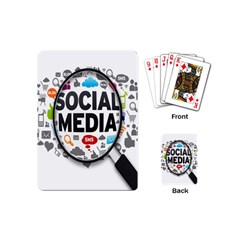 Social Media Computer Internet Typography Text Poster Playing Cards (mini)