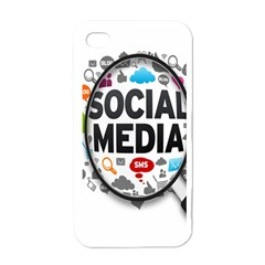 Social Media Computer Internet Typography Text Poster Apple Iphone 4 Case (white)