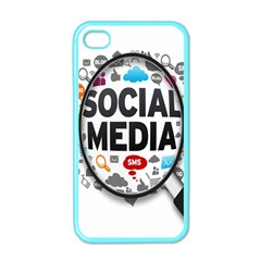 Social Media Computer Internet Typography Text Poster Apple Iphone 4 Case (color)