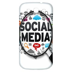 Social Media Computer Internet Typography Text Poster Samsung Galaxy S3 S Iii Classic Hardshell Back Case