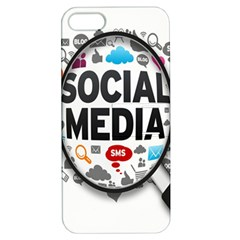 Social Media Computer Internet Typography Text Poster Apple Iphone 5 Hardshell Case With Stand