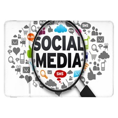 Social Media Computer Internet Typography Text Poster Samsung Galaxy Tab 8 9  P7300 Flip Case