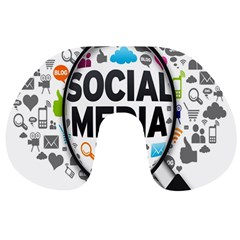 Social Media Computer Internet Typography Text Poster Travel Neck Pillows