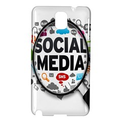 Social Media Computer Internet Typography Text Poster Samsung Galaxy Note 3 N9005 Hardshell Case