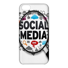 Social Media Computer Internet Typography Text Poster Apple Iphone 5c Hardshell Case