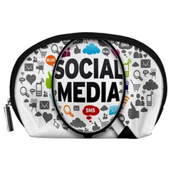 Social Media Computer Internet Typography Text Poster Accessory Pouches (large)