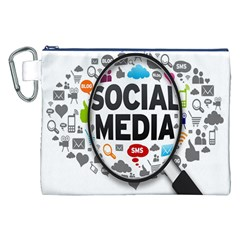 Social Media Computer Internet Typography Text Poster Canvas Cosmetic Bag (xxl)