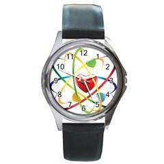 Love Round Metal Watch