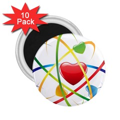 Love 2 25  Magnets (10 Pack)