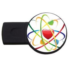Love Usb Flash Drive Round (4 Gb)