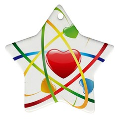 Love Star Ornament (two Sides)